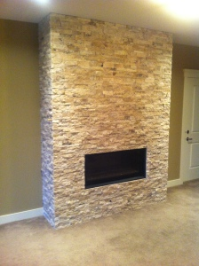 Stone work fireplace, trumpeter court / Skyrim Construction